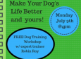 Expert Dog Trainer Robin Roy's Free Dog Training Workshop!