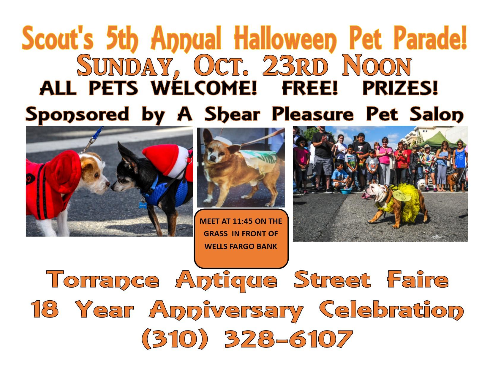 Torrance antique street faire pet parade halloween for A shear pleasure pet salon
